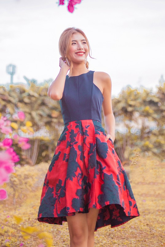 1020e4afb6 Adonis Hi Low Dress in Red