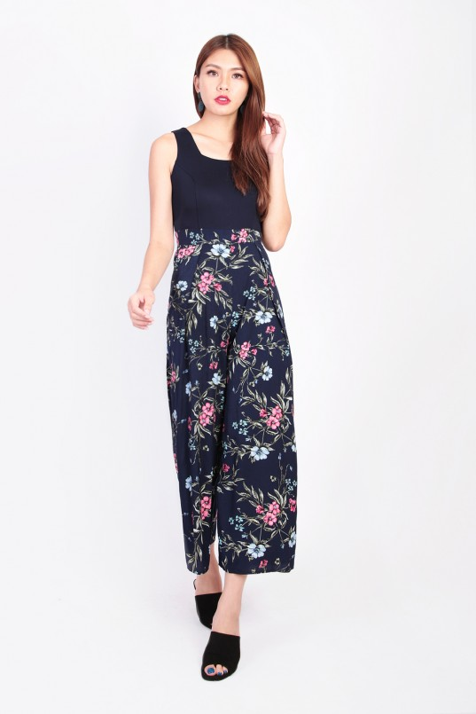 ba581269755 Madeira Floral Jumpsuit in Navy