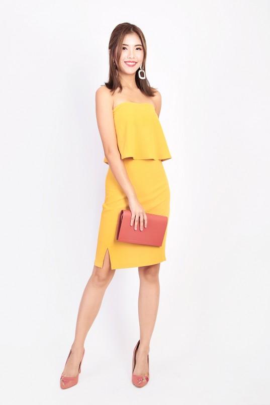 963716f80c6 Kelley Tube Dress in Mustard