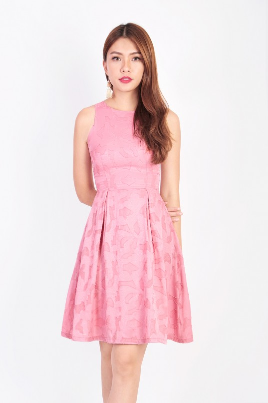 5c22f0ec4340 Aiden Floral Cutout Dress in Pink