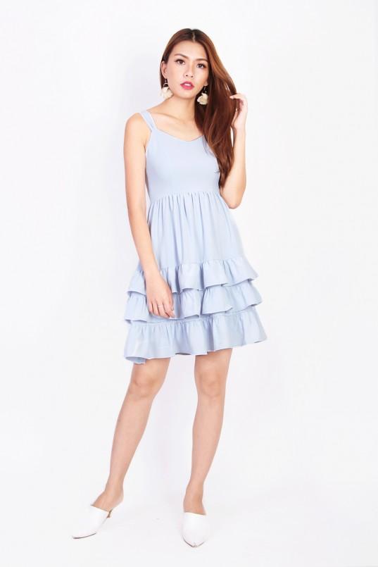 9e1967fdca98 Capella Tiered Dress in Powder Blue