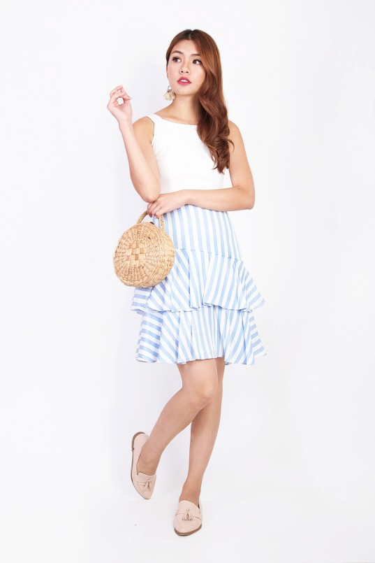 bc52887b5b5e Riona Stripes Dress in Blue