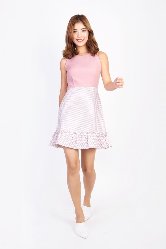 9ff2d4745ce5 Sergio Printed Dress in Pink