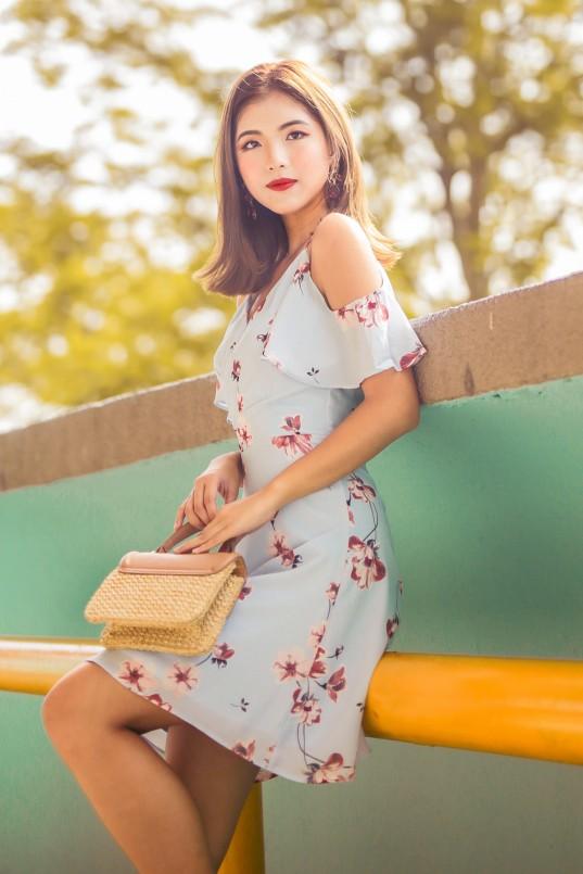cbad19fc10d1 Brina Cold Shoulder Dress in Floral