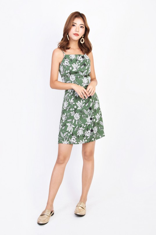 86aae53a4fb Jereina Floral Dress in Green