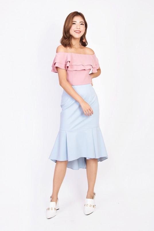 e6871f124a471 Mariselle Off Shoulder Top in Pink