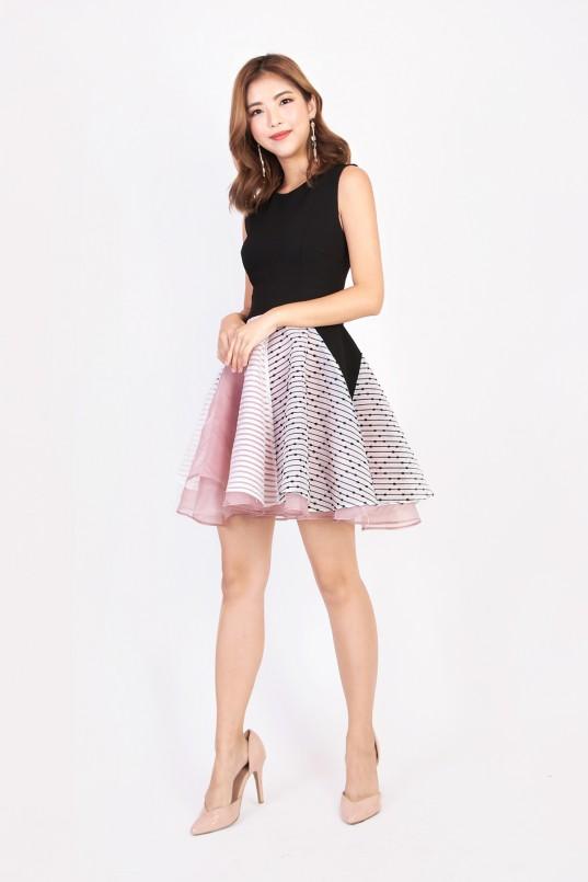 6c778d4f55 Shyrene Layered Dress in Black