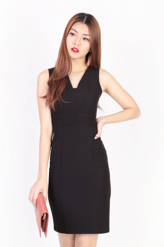 BACKORDERS2  Molly Panel Workdress in Black e1e4f688a