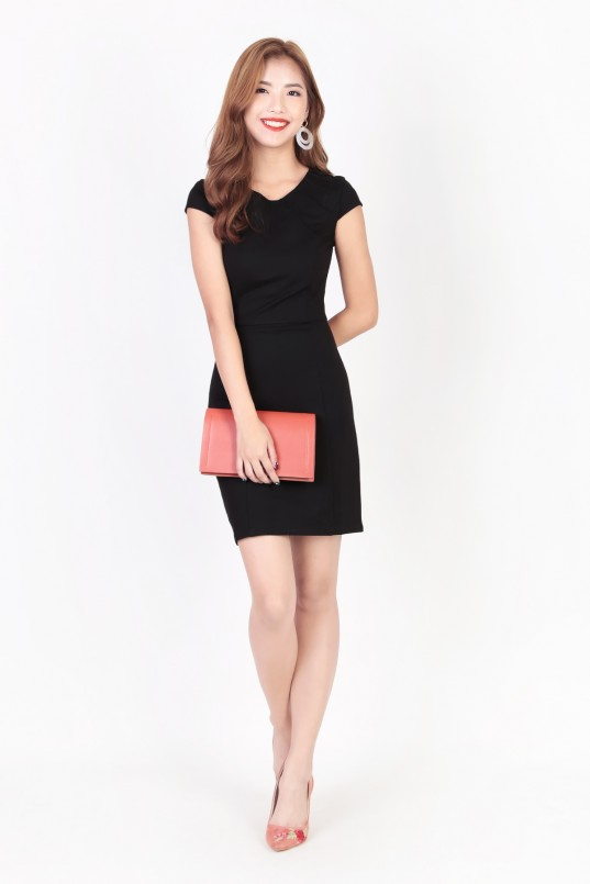 c270b9327e1 RESTOCK  Bexley Sheath Dress in Black