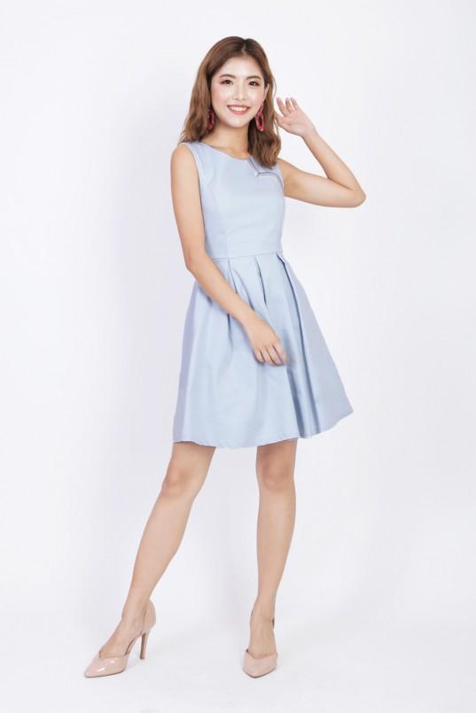 d136a7fbb3 Rowen Rainbow Dress in Powder Blue