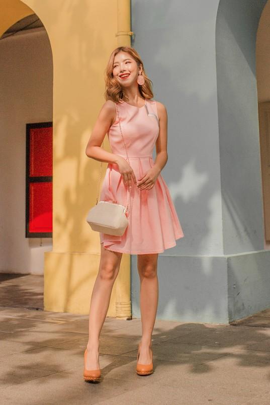 272c3a87a73 Rowen Rainbow Dress in Blush Pink