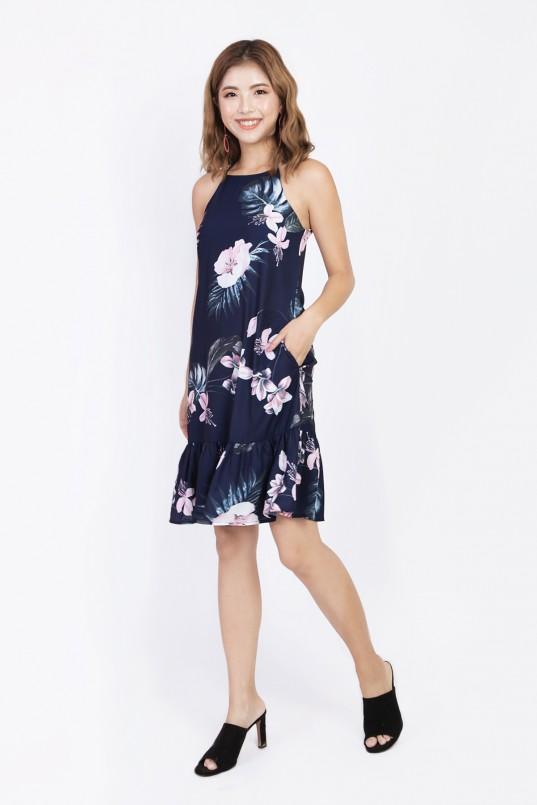 94e69d6e8f5 Kilda Floral Flounce Dress in Navy