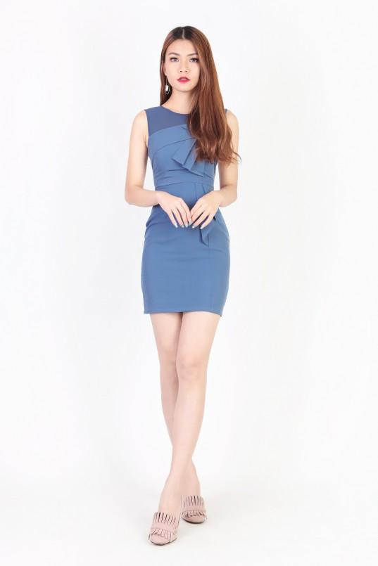 4ae1cecf36d7c2 RESTOCK  Krystle Mesh Dress in Blue