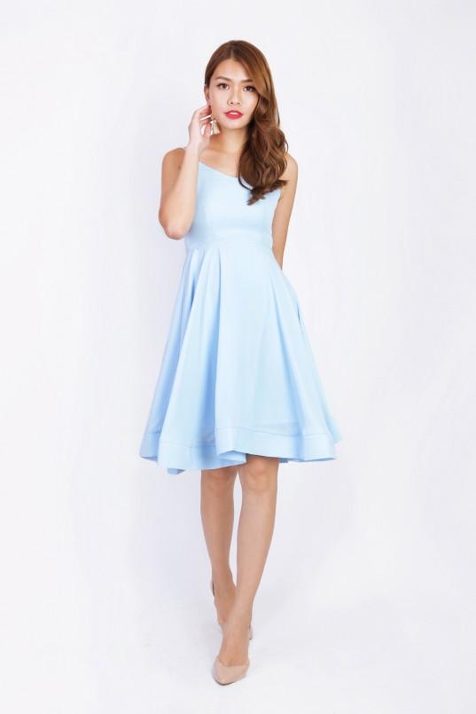 9ccb5ccf48a Alva Swing Dress in Sky Blue