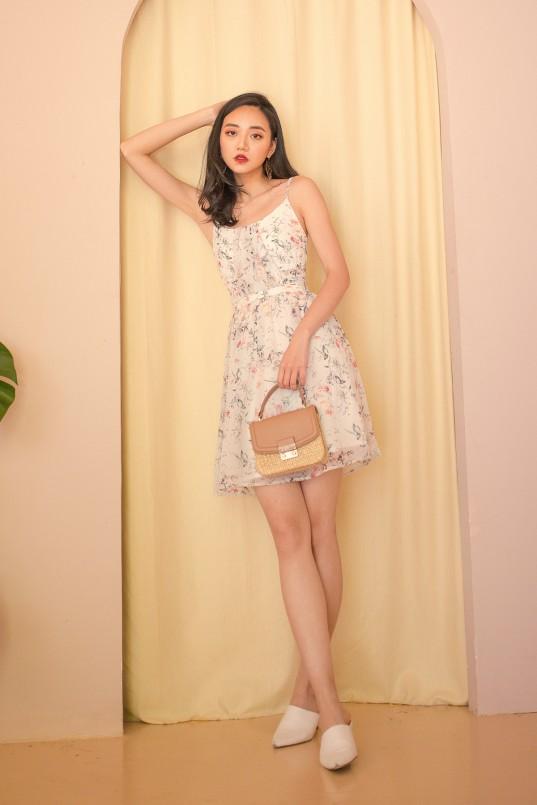 ac57ac9ad5 Joyder Floral Dress in Light Grey