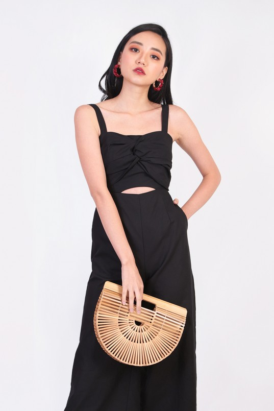b9cf1025455 Eihyuna Knot Jumpsuit in Black
