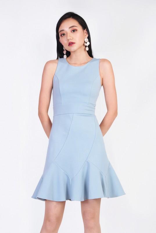 d273108f64 Trecia Flounce Dress in Powder Blue