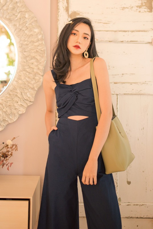 870f15ee831e Eihyuna Knot Jumpsuit in Navy