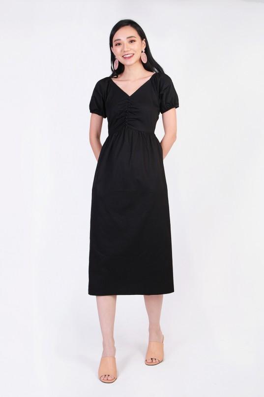 92fe2347400b1c Bernita Midi Dress in Black