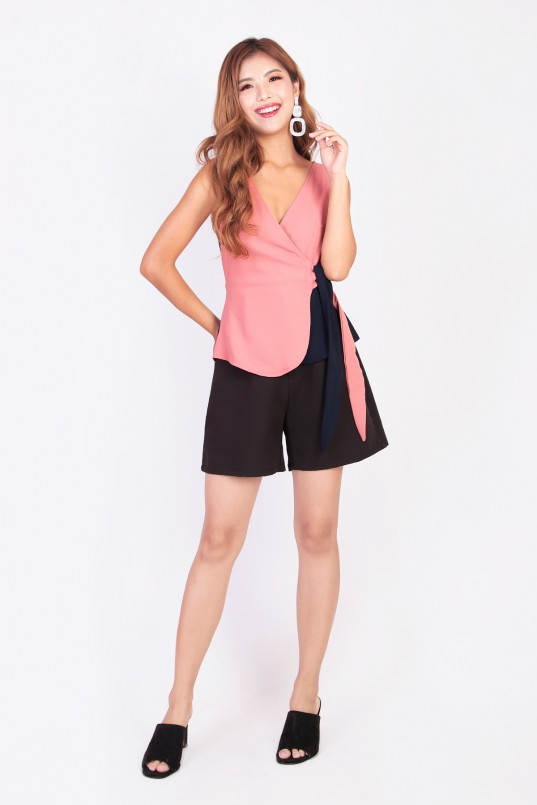 b72e9205d85 Joen Duo Wrap Top in Pink