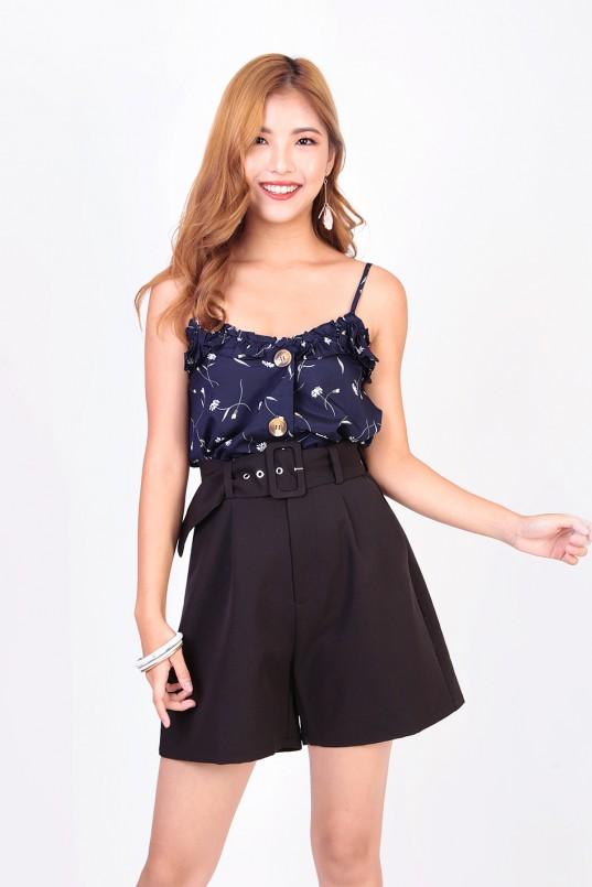 7e13ebc38485 Ghislaine High Waist Shorts in Black