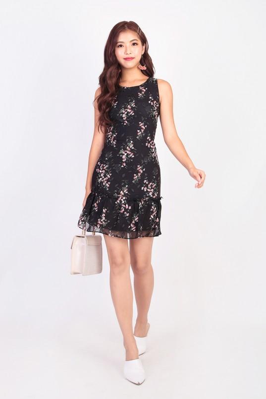 1cf61abb742 Diana Floral Dress in Black