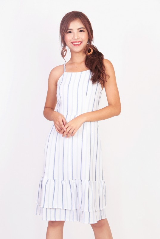 f7fea5b7f0 Estee Stripes Midi Dress in Blue