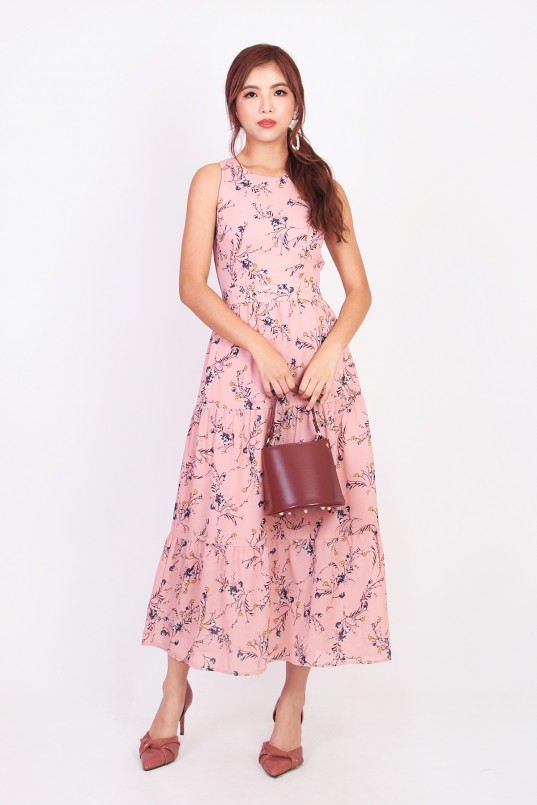9263b1edd2c Laurel Floral Maxi Dress in Pink