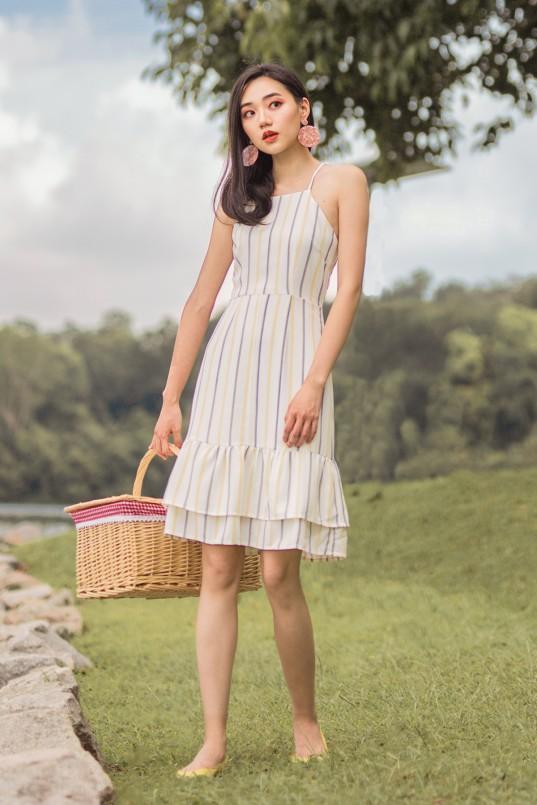 05f2588a626 Estee Stripes Midi Dress in Yellow
