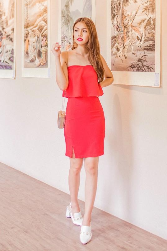 3d16ee73b4e8 RESTOCK: Kelley Tube Dress in Red