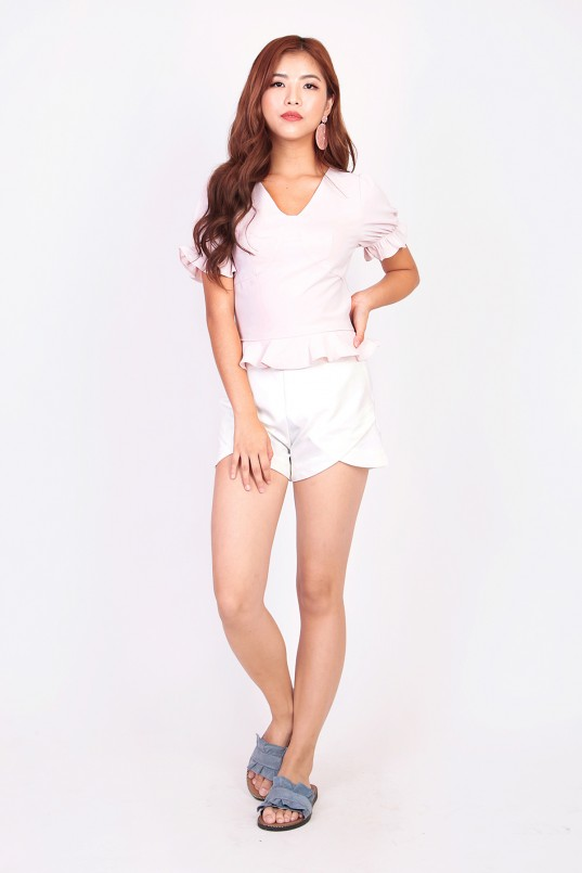 5f1a6051 Francie Highwaist Shorts in White