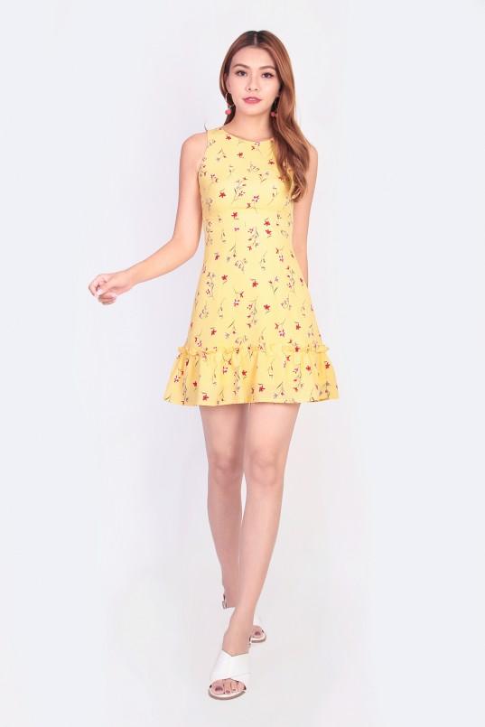 2a5f8fbd6aab10 Layla Floral Dress in Yellow