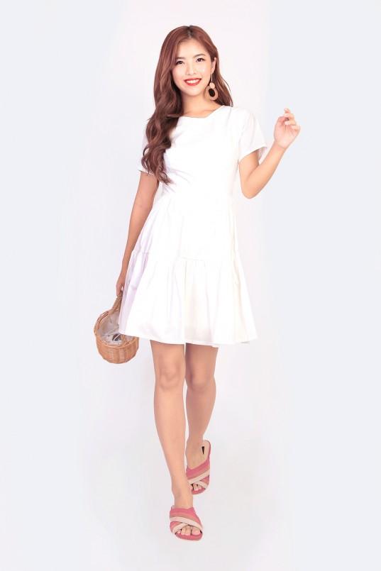 a2bca20400 Ellie Tiered Dress in White