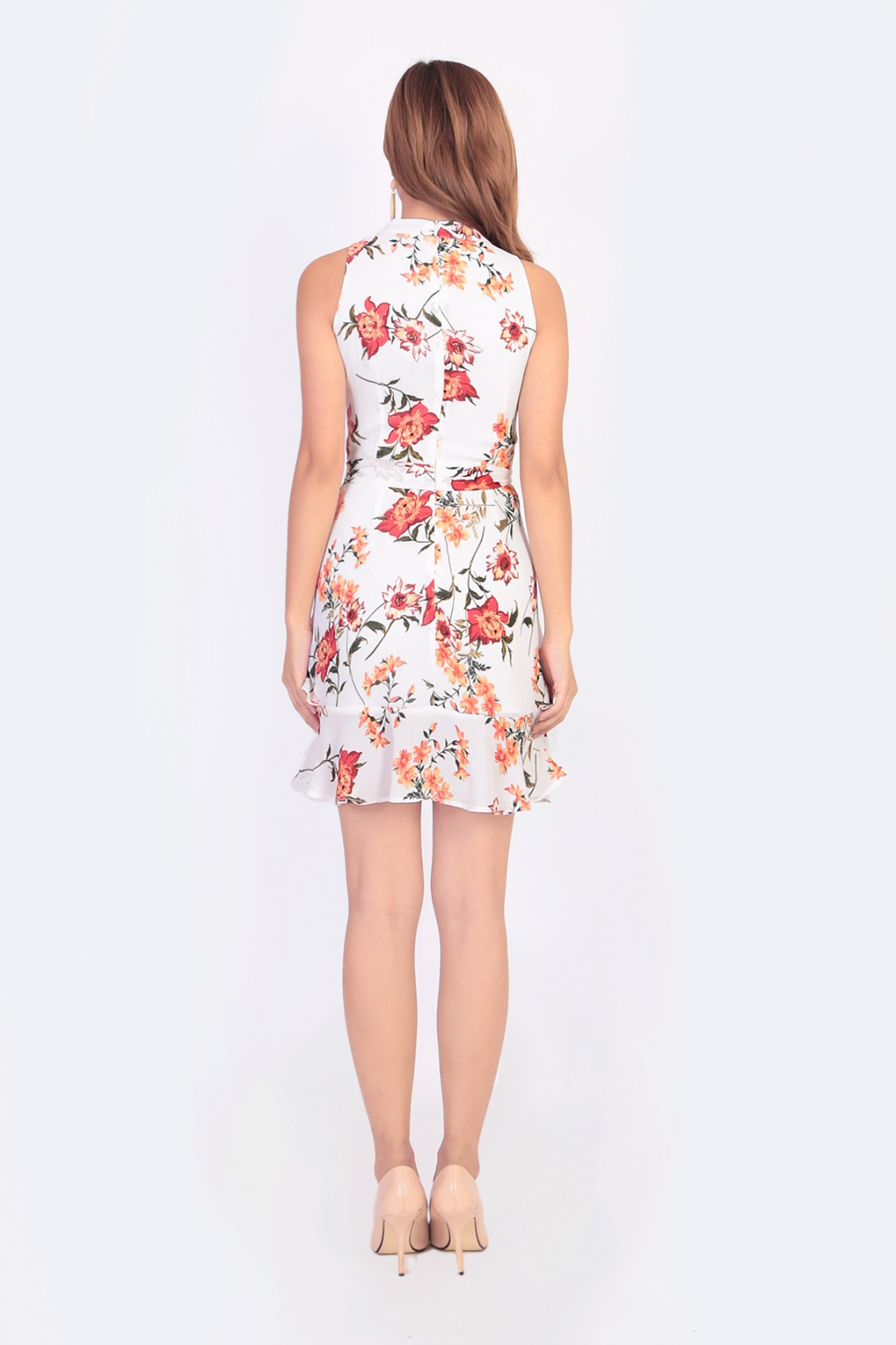 5fbc7eeed9cf Laura Floral Dress in White - MGP