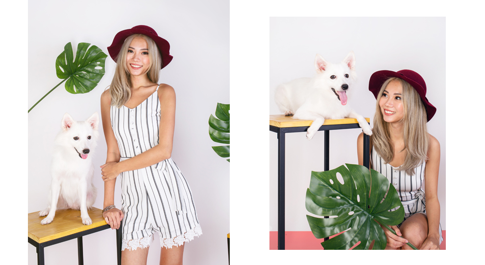 8fceae8fcb Look up to this stripe romper that can be both dressy and laid back